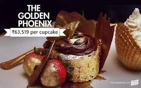 8 The Golden Phoenix Cupcake 1000 Or INR63519 Per