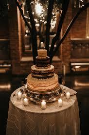 Vintage Rustic Glam Wedding Naked Cake
