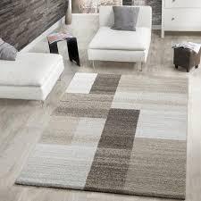 moderner webteppich kurzflor wohnzimmer rechtecke meliert in beige creme braun größe 160x230 cm