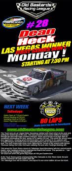 OBRL S3 Truck Series Las Vegas Winner (Dean Heck) Poster - Old ...