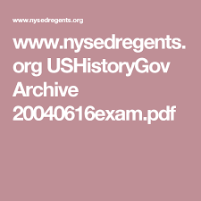 Sinking Of The Uss Maine Quizlet by Www Nysedregents Org Ushistorygov Archive 20040616exam Pdf U S