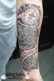Half Sleeve Tattoos On Forearm Full Arm Watch Tattoo