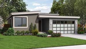 Modern House Plans & Small Contemporary Style Home Blueprints