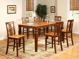 5PC Counter Height Dining Room Table Set And 4 Bar Stools