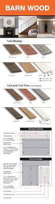 1 in x 4 in x 8 ft Barn Wood Gray Pine Trim Board 6 Pack