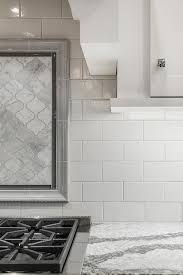 dove gray kitchen border tiles design ideas