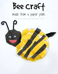 Bee Craft Using Paper Plate And Great Fun For Toddlers Preschoolers