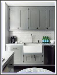 Grey Tiles With Grey Grout by White Subway Tile Backsplash With Grey Grout Tiles Home Design