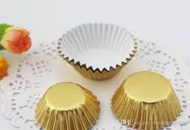 Baking Gold Silver Foil Paper Holder Medium Oil Cake Cupcake Liner Muffin Liners Papers Cups Cakecup 35cm Or Cup Wedding