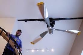 pilot makes dc 6 propeller the hub of his chena ridge home