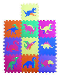 Foam Floor Mats Baby by Amazon Com Dinosaur Zoo Educational Foam Puzzle Floor Mat For
