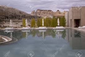 100 Amangiri Utah Pond At A Tourist Resort Canyon Point USA Stock