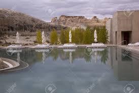 100 Amangiri Resorts Pond At A Tourist Resort Canyon Point Utah USA