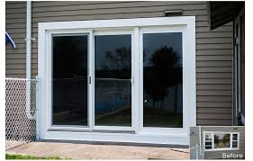 awesome 3 panel sliding patio door with download three panel