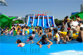 Household Water Pool Slide Inflatable Pool Slides For Inground Pools