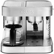 Krups Stainless Steel Thermoblock Combination Coffee Maker Espresso Machine