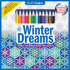 Winter Dreams Adult Coloring Book With Colored Pencils Cover