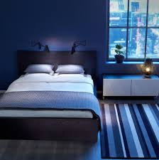 Light Blue Bedroom Ideas Gray Platform Bed With Upholatered Slab