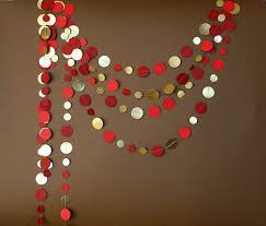 Ruby Wedding Decorations Gold Red Garland