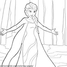 CartoonPictures Of Frozen Coloring Pages Princess Ice Elsa With Array
