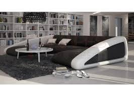 grand canapé d angle original en cuir large canapés d angle