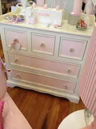 Pink Vintage Dresser Knobs by Pink And White Girls Dresser With Crystal Knobs Kids Bedrooms
