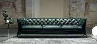 Italsofa Red Leather Sofa by Sofas Natuzzi Italia