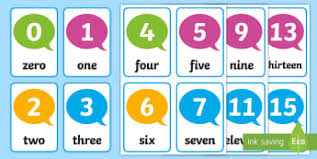 Counting Flashcards Primary Resources