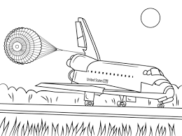 Click To See Printable Version Of Space Shuttle Endeavour Landing Coloring Page