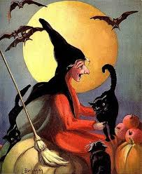 Vintage Halloween Collector Weeny Witch by Witch Black Cats Bats Hollands Vintage Halloween Magazine Cover