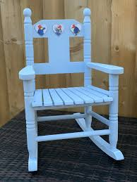 Paddington Bear Childs / Toddlers Rocking Chair With Two Matching Hanging  Wooden Heart Plaques