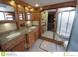 Luxury RV Bathroom Stock Image Of Motorhome Bath