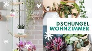 dschungel wohnzimmer makeover mit diy für pflanzenhalter trytrytry