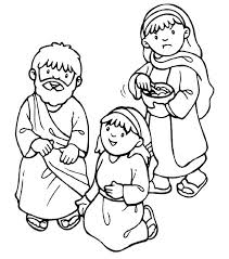 Mary And Martha Coloring Page