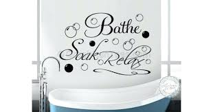 wall decor target canada bathe soak relax bathroom art sticker