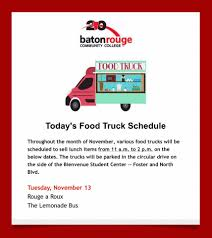 100 Food Trucks Baton Rouge Todays Truck Schedule Phi Theta Kappa Beta Mu Omicron