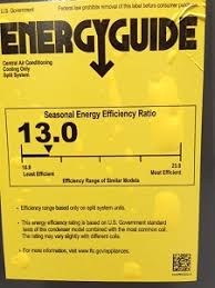 Energy Guide Label Air Conditioning