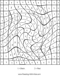 Difficult Color By Number Coloring Pages Numbers