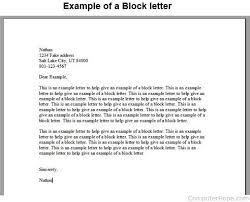 What is a Block Letter