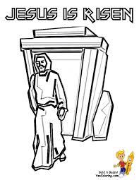Free Printout Jesus Risen Tomb At YesColoring