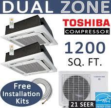 Ceiling Cassette Mini Split by 24000 Btu Dual Zone Energy Star Mini Split 12000 X 2 Ceiling Cassette