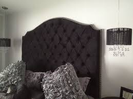 Skyline Velvet Tufted Headboard by Black Tufted Headboard Queen 7 Trendy Interior Or Black Velvet