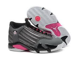 Colorful Girls Air Jordan 14 Retro Gs Hyper Buy Online Grey Black Metallic Dark Pink White