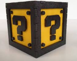 Mario Question Mark Block Lamp by Mario Bros Question Etsy