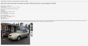 100 Craigslist Seattle Tacoma Trucks Cars And For Sale By Owner