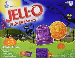 Jello Halloween Molds Instructions by Jell O Jigglers Halloween Mold Kit Orange And Grape 12 Ounce