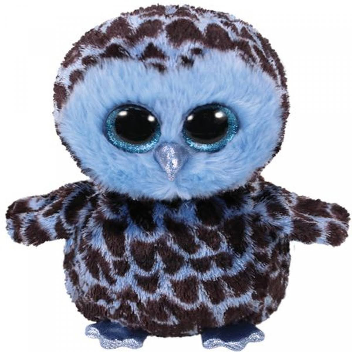 Ty Beanie Boo Yago Blue Owl Medium 37267
