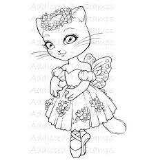 2 Kitty Ballerina Colouring Pages Page 3