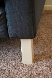 the sofa saga part 2 how to replace karlstad legs temporary home