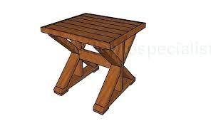 Diy Bedside Table Elegant Build A Diy Side Table Building Plans By